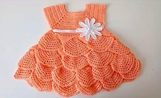 Diy Vestido Tejido A Crochet Para Bebé Vestidos Tejidos A