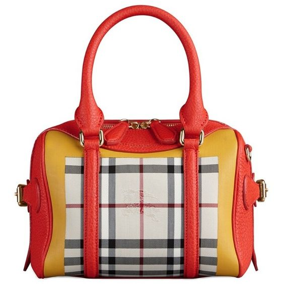 Burberry The Mini Bee in Horseferry Check ($2,495) ❤ liked on Polyvore featuring bags, handbags, purses, white bags, pocket bag, wing bags, white purse and white handbags