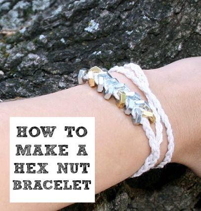 How to make a hex nut bracelet!