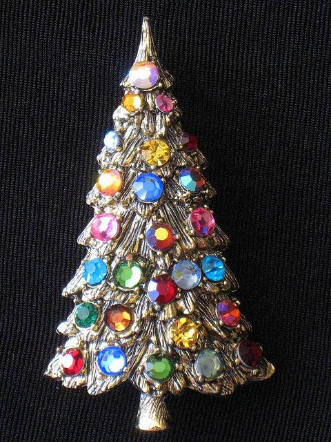 Christmas Tree Pin circa 1964: