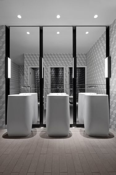 Bathroom at the collins hilton adelaide woods bagot for Bathroom ideas adelaide