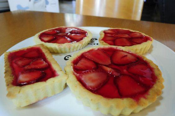 mini tarta de frutillas