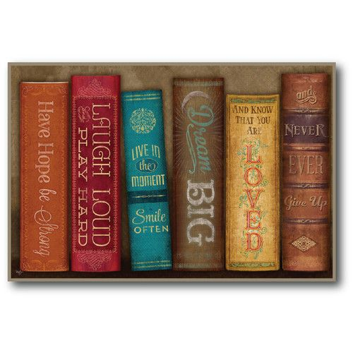 Found it at Wayfair - Farmhouse Canvas Books of Love Framed Gallery Wrapped Canvas