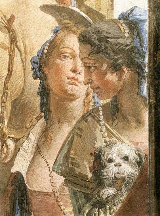 Tiepolo: fresco detail, Palazzo Labia, Venice: