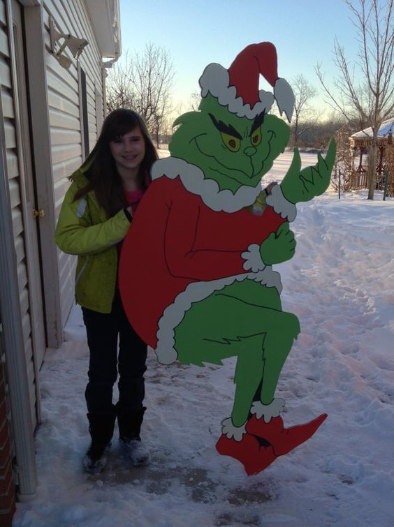 Giant Grinch Almost 6 Feet Tall Stealing Christmas