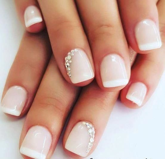 60 Wedding Nail Ideas For Brides Ideas 39 Visit The Publication For More Informat In 2020 Bridal Nails French Wedding Nails For Bride Natural Simple Wedding Nails
