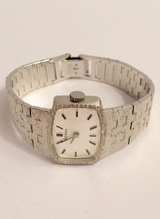 Online veilinghuis Catawiki: Vintage zilveren dames horloge