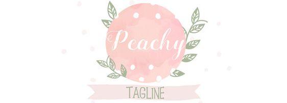 Peachy Premade Blog Header  Watercolor  Premade от WayInspireArt