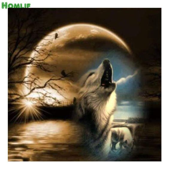 100% Full 5D Diy Daimond Painting Wolf Howling 3D Diamond Painting Full Round Moon Rhinestones Diamant Painting Embroidery Decor. Yesterday's price: US $4.47 (3.70 EUR). Today's price: US $4.47 (3.70 EUR). Discount: 51%.