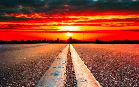 #sunset #road