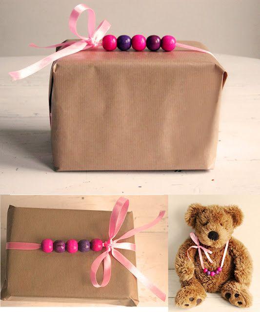 Beaded gift wraps: