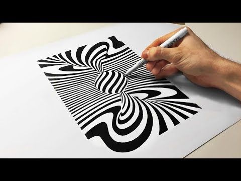 3d Cool Optical Illusion Drawing Spiral Tornado Ball How To Draw