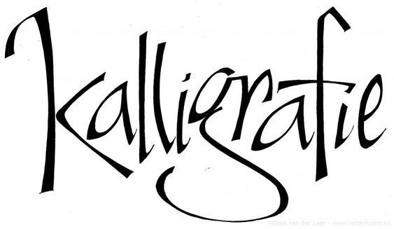 Kalligrafie: Vrij werk » Letterkunst