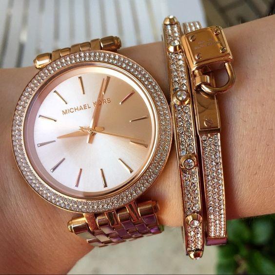 Michael Kors Women's Darci Rose Gold Tone Watch MK3192