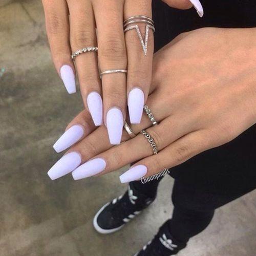 Summer Nails Pastel Nails In 2020 Lavender Nails Cute Acrylic Nails Pastel Nails