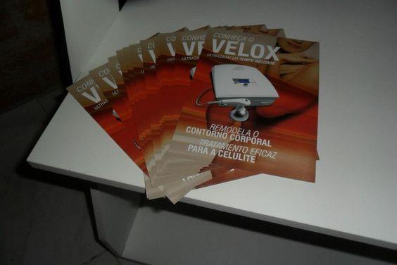 Folheto de apresentação do Velox!