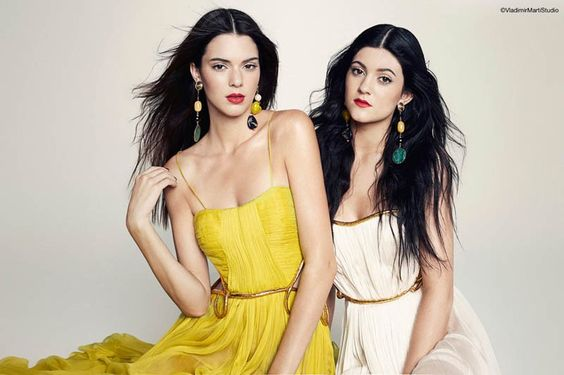 Kylie +Kendall Jenner Model for Marie Claire Latin America