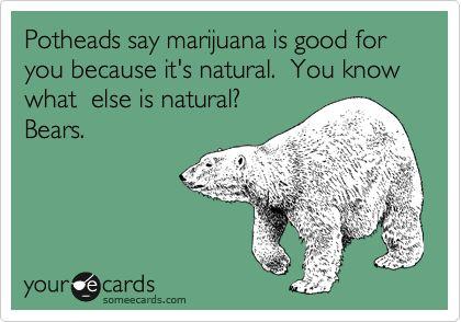 Can't smoke a bear