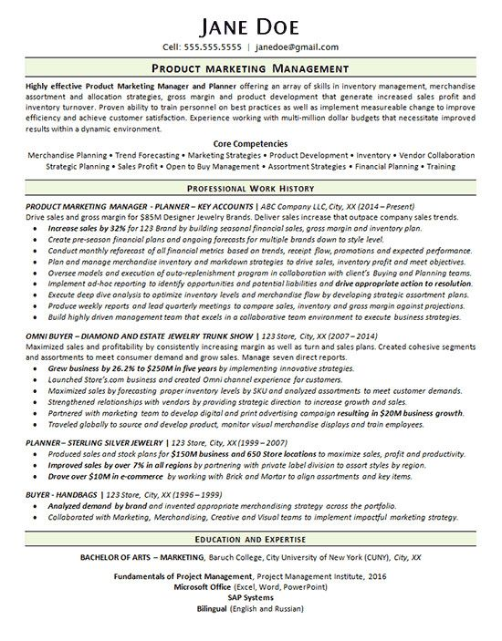 Product Manager Resume Example Elegant Product Marketing Manager Resume Example Merchandise P Manager Resume Resume Examples Job Resume Examples