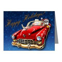 Happy Holidays! Note Cards #vintagecars #xmascards