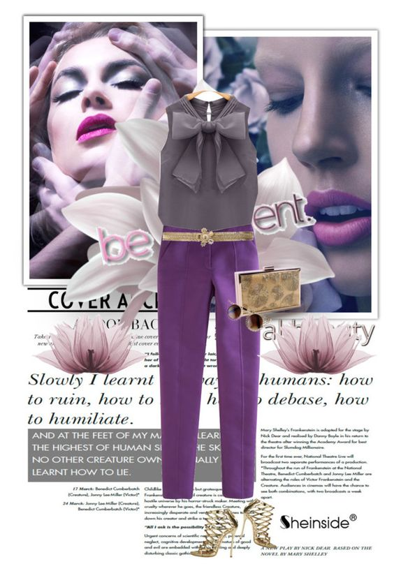 """""""sheinside world"""" by lana-97 ❤ liked on Polyvore featuring Hypnos, Prabal Gurung, Chanel and Dsquared2"""