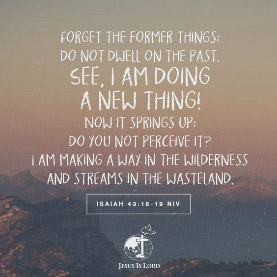 Forget the former things; do not dwell on the past. See, I am doing a new thing! Now it springs up; do you not perceive it? I am making a way in the wilderness and streams in the wasteland. Isaiah 43:18-19 NIV #ThrownThroughThrew #TripleTJourney
