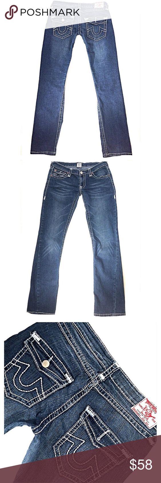 """TRUE RELIGION """"Joey"""" SZ 32 Skinny Dark Blue Jeans TRUE RELIGION """"Joey"""" Juniors*SZ 32*Skinny Dark Stretchy Blue Jeans*Inseam 32"""" True Religion Jeans Skinny"""