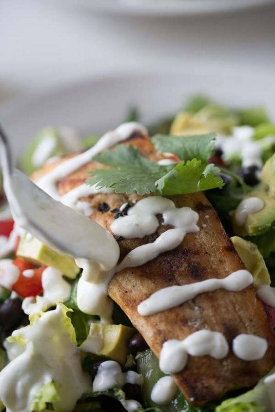 mahi mahi mahi mango salads dressing fresh homemade sour cream simple ...