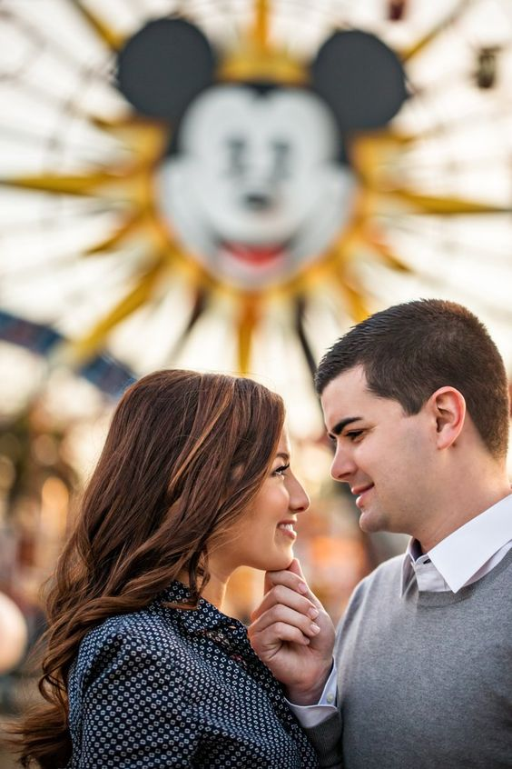 Pin for Later: 5 Dream Engagement Shoots For Disney Die-Hards Katie and Matt Photo by D. Park Photography
