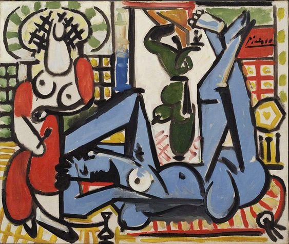 Pablo Picasso - The Women of Algiers (Les femmes d'Alger) [1955] San Francisco Museum of Modern Art - Oil on canvas, 47 × 54.9 cm