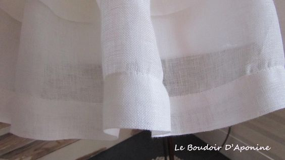Jupe D'Abat Jour Eloise par le Boudoir D'Aponine  http://www.leboudoirdaponine-tapissier.com