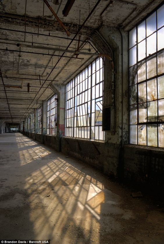 Inside view of Fisher Body, an automobile coachbuilder founded by the Fisher brothers in 1908 and was closed in mid 1990's, in Detroit, Mich...