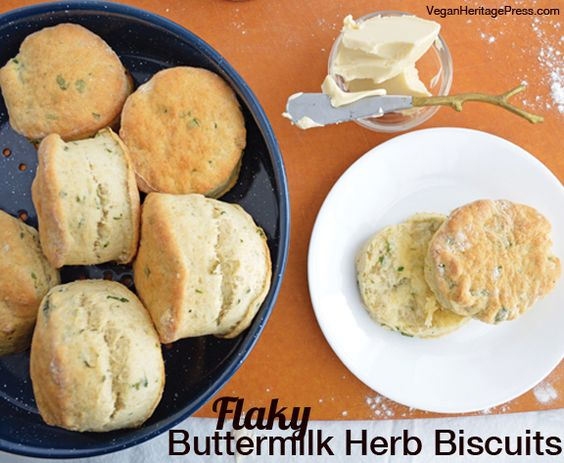 Vegan Buttermilk Herb Biscuits from Everyday Vegan Eats by Zsu Dever