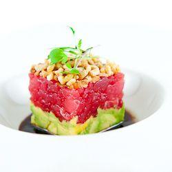 Ahi Tuna Tartare with Avocado, Crispy Shallots & Soy-Sesame Dressing ...