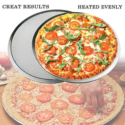 9 12 14 Pizza Screen Seamless Aluminum Chef S Baking Screen Commercial Grade Pizza Pan Supplies Pizza Food Baking