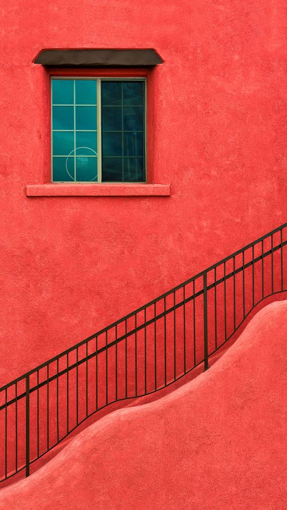 Red House Wall Window Stairs Iphone 6 Plus Hd Wallpaper