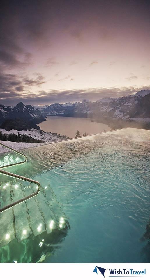 the view from Switzerland's Hotel Villa Honegg: