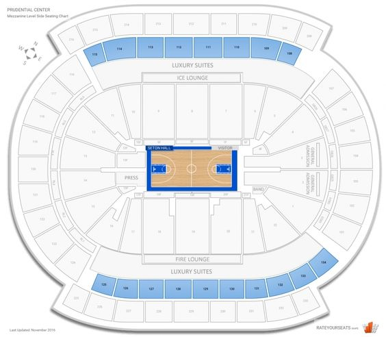 Prudential Center Seating Chart With Rows Di 2020