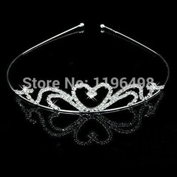 bruids crystal optocht prom partij bloem meisjes tiara kroon hoofdband