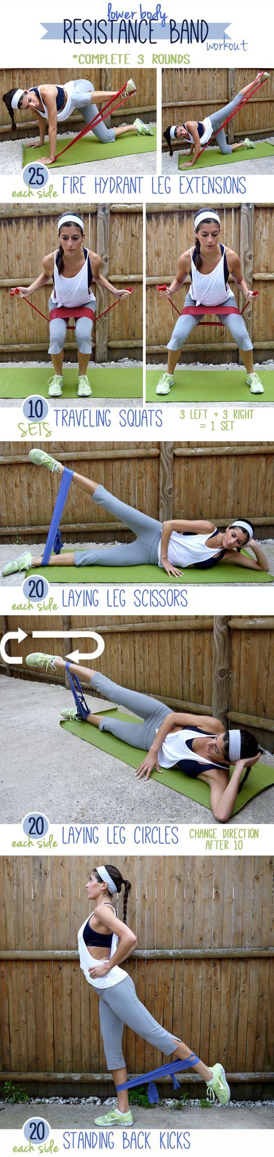 Lower-Body Resistance Band Workout via pumpsandiron.com