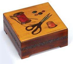Polish Sewing Box 6.25 x 6.25 x 3.50 in.