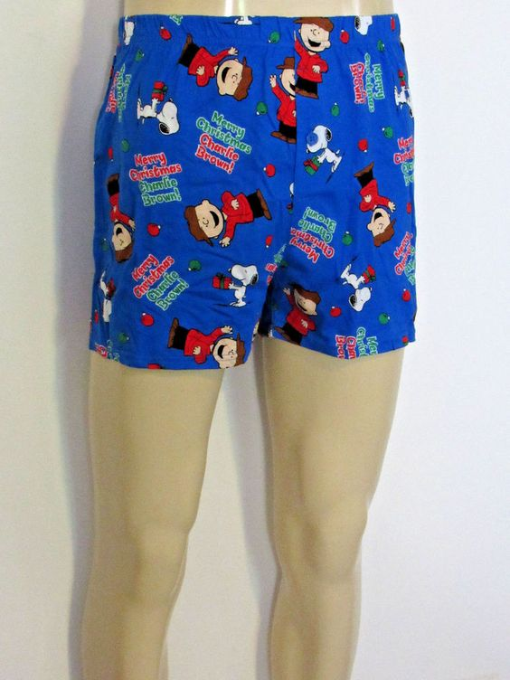 Boxer Shorts MERRY CHRISTMAS CHARLIE BROWN size MEDIUM Peanuts Snoopy & GIFT…