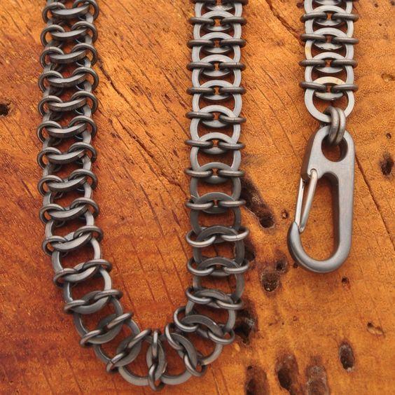 Titanium Chainmail Wallet Chain