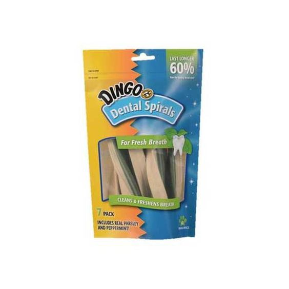Dingo Dental Spirals For Fresh Breath 7pk
