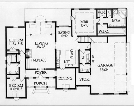 House Plans Master Bedrooms And Walk In Closet On Pinterest