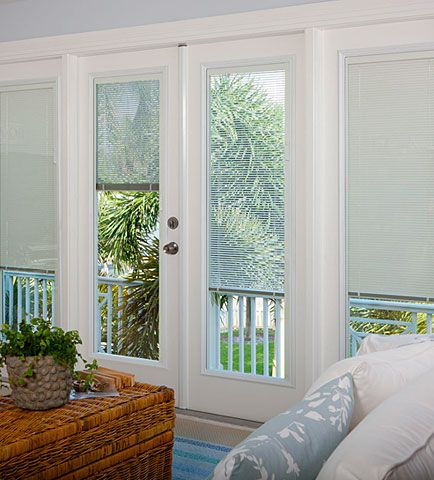 ODL Light Touch® Door Built In Mini Blinds Enclosed Btwn The Glass. A