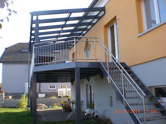 terrasse m tallique sur mesure terrasse pinterest luxembourg. Black Bedroom Furniture Sets. Home Design Ideas