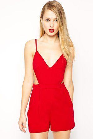 Combi-short rouge de Asos : Look séduisant pour rendez-vous galant - Journal des Femmes Mode