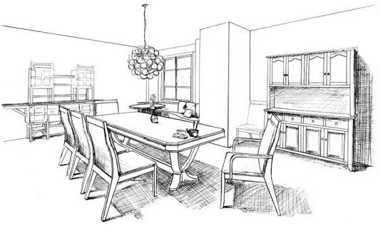 6 Best Cozy And Inspired Dining Room Coloring Pages For Children