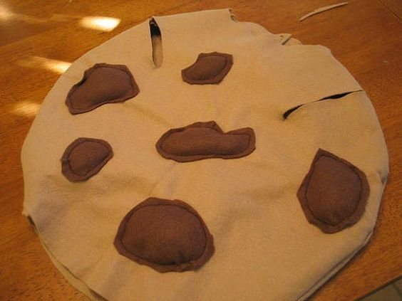 Chocolate Chip Cookie Costume Tutorial to go with Austin's Cookie Monster Costume.